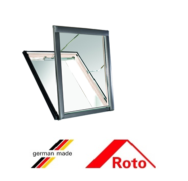 Roto R58, 65/140, toc din lemn, izolatie WD, deschidere verticala, geam dublu 0