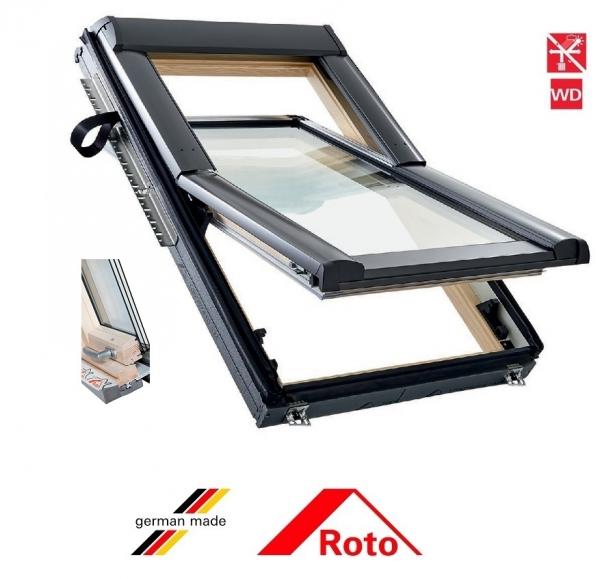 Roto R69G, 65/118, toc din lemn, izolatie WD, deschidere mediana, geam triplu 0