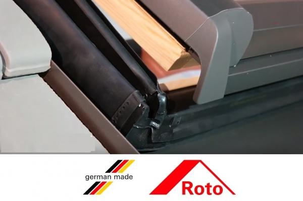 Fereastra mansarda Roto R88, 74/98, toc din lemn, izolatie WD, dubla deschidere, geam dublu 6
