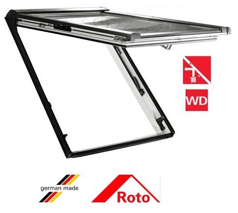 Fereastra mansarda Roto R88, 94/140, toc din pvc, izolatie WD, dubla deschidere, geam dublu 0