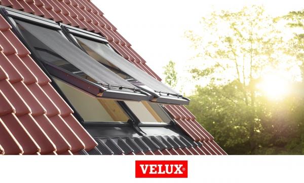 Rulou exterior parasolar Velux Standard MHL, 114/140, Gri 6
