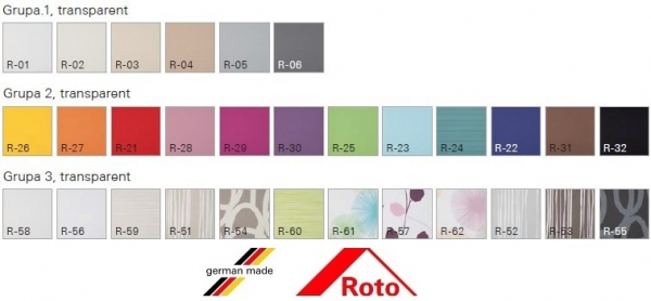 Rulou standard Roto ZRS grupa 2, 54/78 3