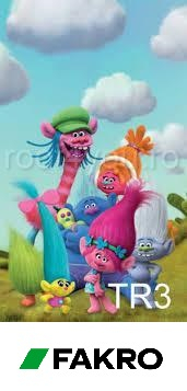 Rulouri opace Fakro ARF TR3  55/78 Colectia DreamWorks Trolls 0