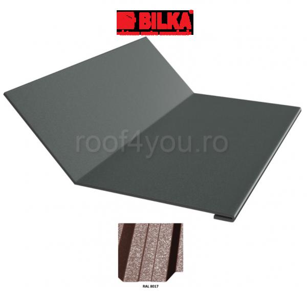 Ruperea pantei concava industriala BILKA Grande Mat 0,5 mm / 208 mm / RAL 8017 0
