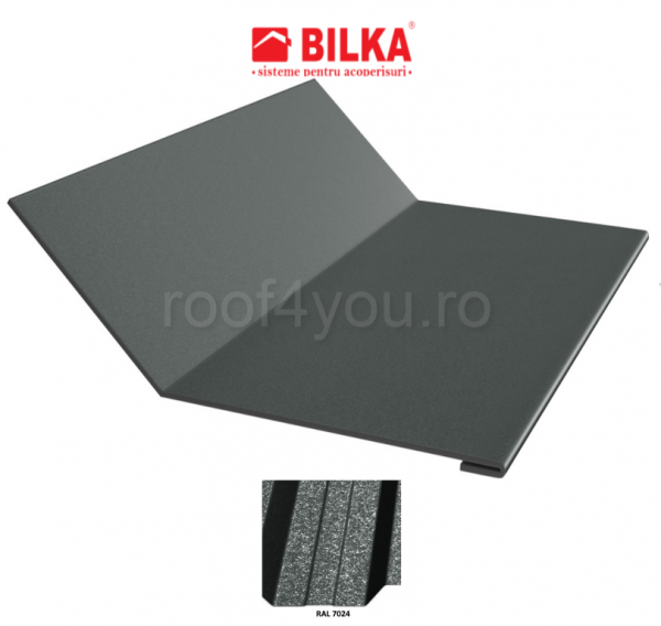 Ruperea pantei concava industriala BILKA Grande Mat 0,5 mm / 250 mm / RAL 7024 0