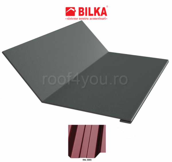 Ruperea pantei concava industriala BILKA Lucios 0,5 mm / 208 mm / RAL 3005 0