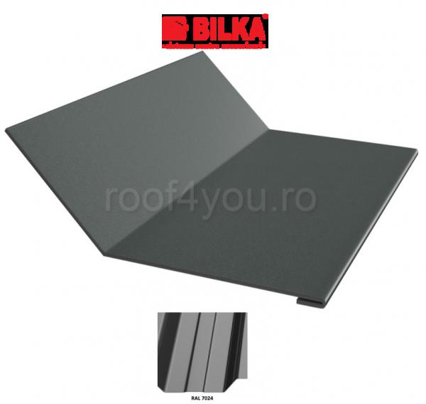 Ruperea pantei concava industriala BILKA Lucios 0,5 mm / 208 mm / RAL 7024 0