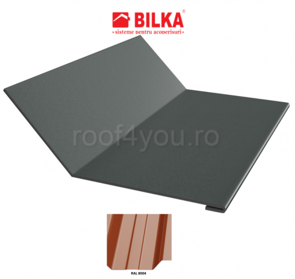 Ruperea pantei concava industriala BILKA Lucios 0,5 mm / 208 mm / RAL 8004 0