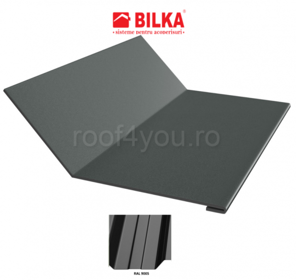 Ruperea pantei concava industriala BILKA Lucios 0,5 mm / 208 mm / RAL 9005 0