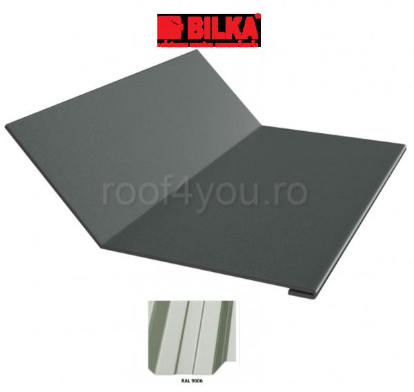 Ruperea pantei concava industriala BILKA Lucios 0,5 mm / 208 mm / RAL 9006 0