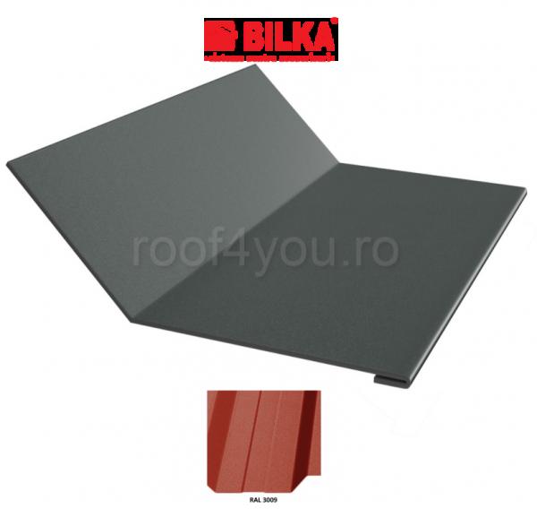 Ruperea pantei concava industriala BILKA Mat 0,5 mm / 208 mm / RAL 3009 0