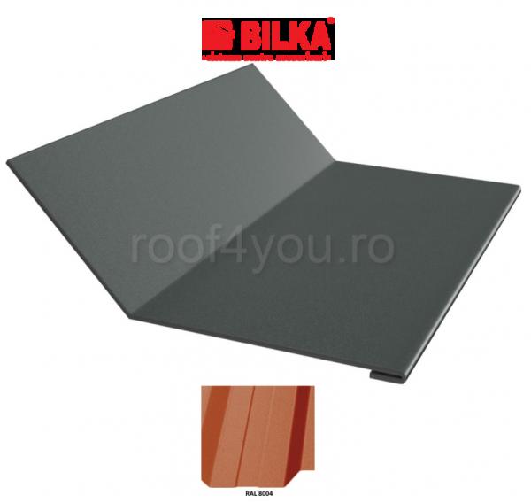 Ruperea pantei concava industriala BILKA Mat 0,5 mm / 208 mm / RAL 8004 0