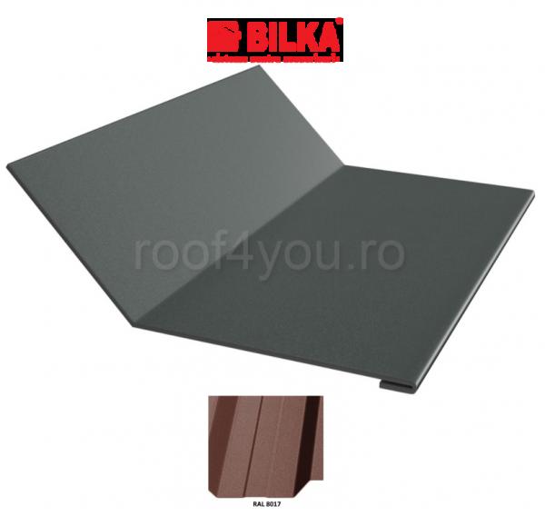 Ruperea pantei concava industriala BILKA Mat 0,5 mm / 208 mm / RAL 8017 0