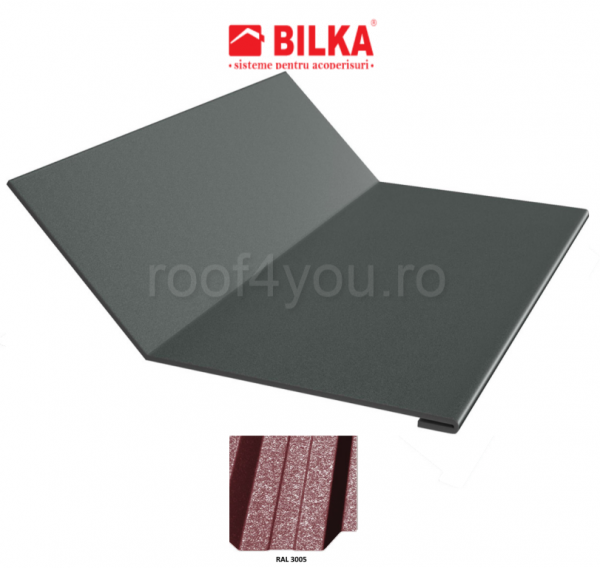 Ruperea pantei concava industriala BILKA Grande Mat 0,5 mm / 208 mm / RAL 3005 0