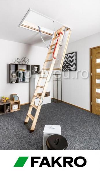 Scara modulara din lemn LTK Energy 55/100, inaltime camera 280 cm 1