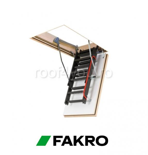 "Scari Modulare Metalice Fakro LMF 45 Antifoc  60/120 inaltimea incaperii ""H"" 280 cm 1"