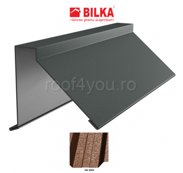 Semicoama industriala BILKA Grande Mat 0,5 mm / 312 mm / RAL 8004 0