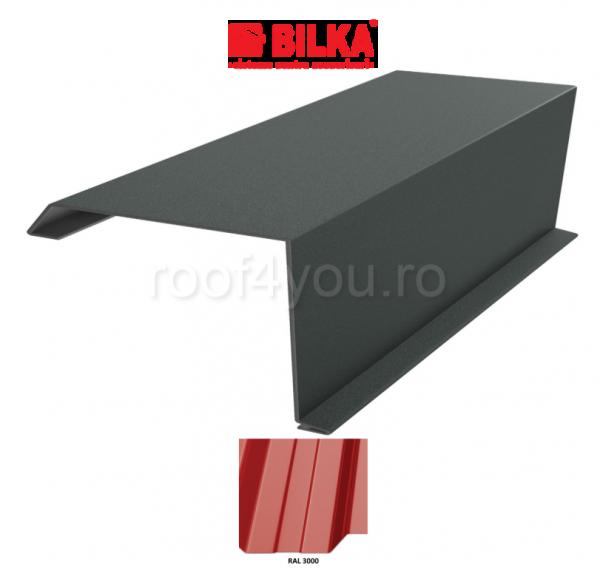 Bordura fronton industriala BILKA Lucios 0,5 mm / 360 mm / RAL 3000 0