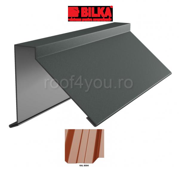 Semicoama industriala BILKA Lucios 0,5 mm / 312 mm / RAL 8004 0