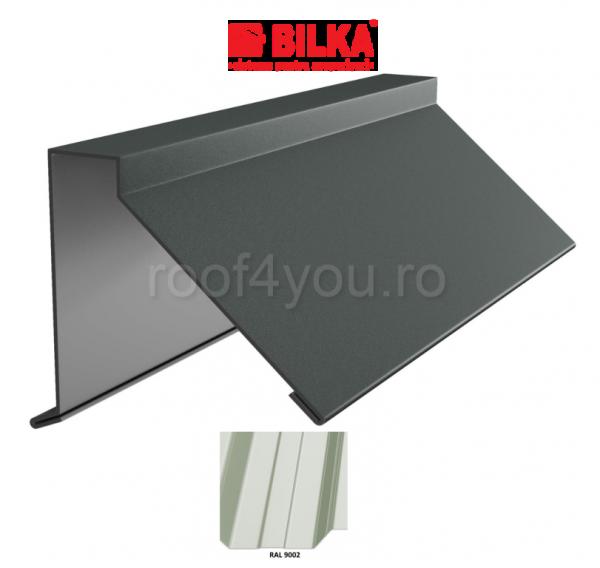 Semicoama industriala BILKA Lucios 0,5 mm / 312 mm / RAL 9002 0