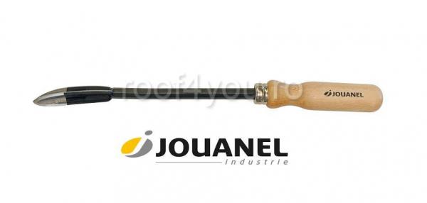 Trasator pentru zinc, cu maner din lemn, Jouanel 0