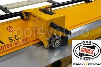 Set abkant manual latime 2m / 1,00 mm ZRS 2160 cu pedale si taietor Sorex [1]