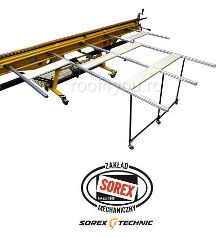 Set abkant manual latime 3m / 0,7 mm ZRS 3160 cu pedale, masa de lucru si taietor Sorex [6]