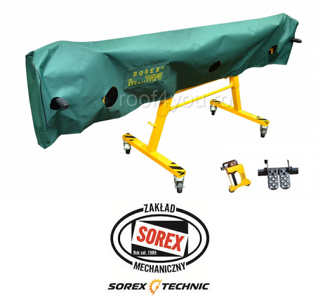 Set abkant manual lungime 2.36 m / 0,8 mm ZRS 2360 cu pedale, husa si taietor Sorex 0