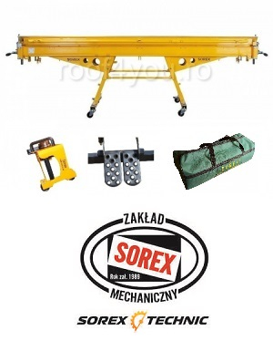 Set abkant manual lungime 2.36 m / 0,8 mm ZRS 2360 cu pedale, husa si taietor Sorex 1
