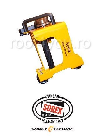 Set abkant manual lungime 2.36 m / 0,8 mm ZRS 2360 cu pedale, husa si taietor Sorex 4