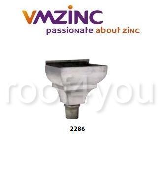 Sisteme de apa de ploaie, VMZINC, inaltime/lungime 345 x 240 mm, diametru 120 mm, Model 2286 0