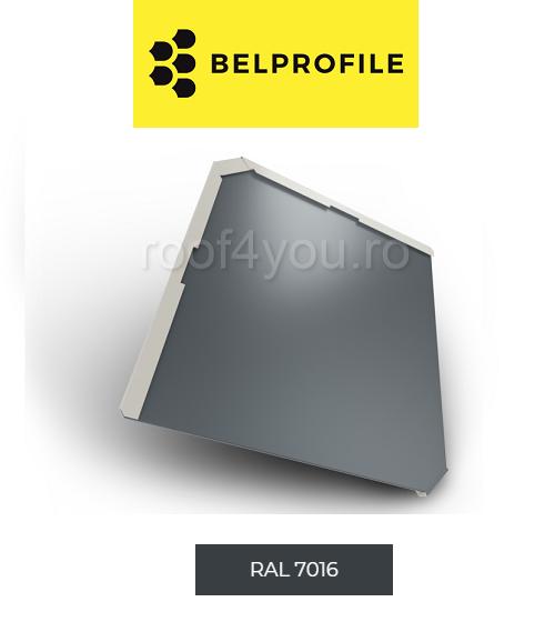 "Solzi BELPROFILE QUADRA, suprafata ""Aluminiu Embosat"", grosime 0.7 mm, RAL 7016 0"