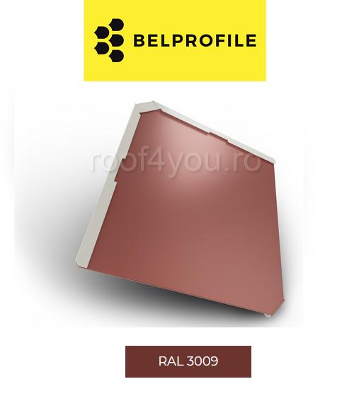 "Solzi BELPROFILE QUADRA, suprafata ""BigStone"", grosime 0.5 mm, RAL 3009 1"