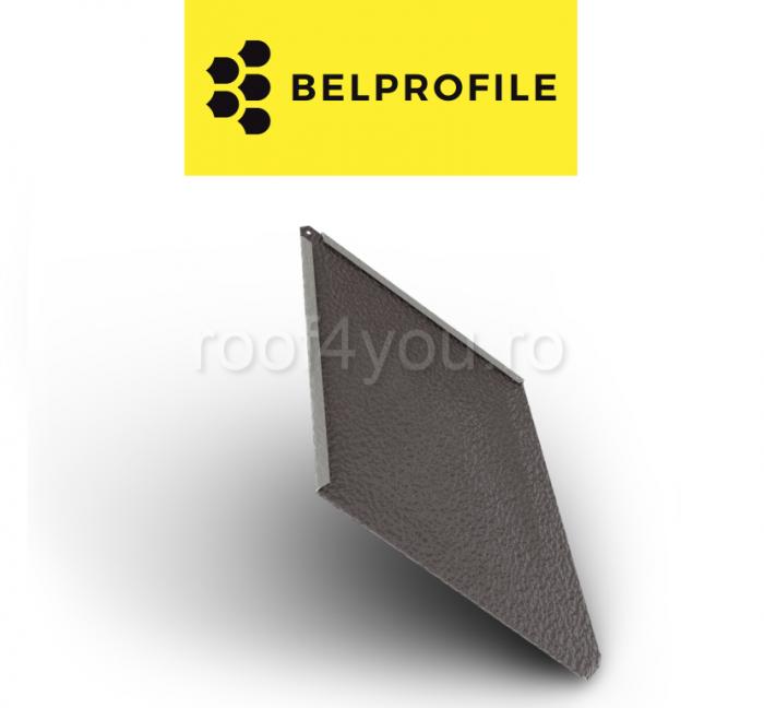 "Solzi BELPROFILE ROMBO, suprafata ""Aluminiu Embosat"", grosime 0.7 mm, RAL 8017 1"