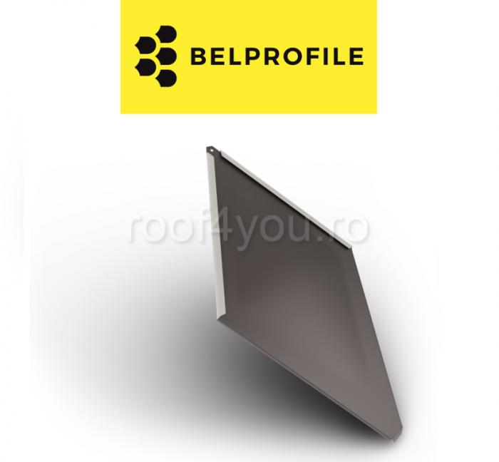 """Solzi BELPROFILE ROMBO, suprafata """"Aluminiu SunClear"""" (lucios), grosime 0.7 mm, RAL 8017 0"""