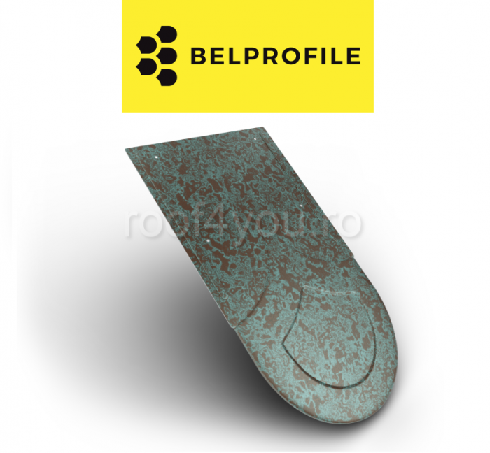 "Solzi BELPROFILE RONDO, suprafata ""PrinTech"", grosime 0.6 mm, RAL WEATHERED 0"