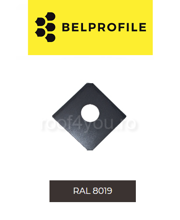 "Solzi QUADRA BELPROFILE element trecere, suprafata ""BigStone"", grosime 0.5 mm, RAL 8019 1"