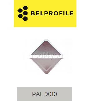 "Solzi QUADRA BELPROFILE element superior/inferior, suprafata ""Aluminiu SunClear"" (lucios), grosime 0.7 mm, RAL 9010 0"