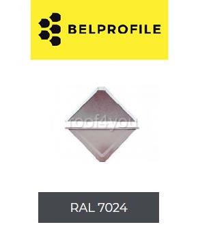 "Solzi QUADRA BELPROFILE element superior/inferior, suprafata ""BigStone"", grosime 0.5 mm, RAL 7024 0"