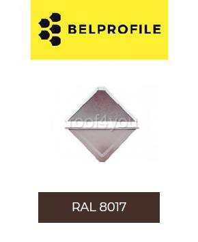 "Solzi QUADRA BELPROFILE element superior/inferior, suprafata ""BigStone"", grosime 0.5 mm, RAL 8017 0"