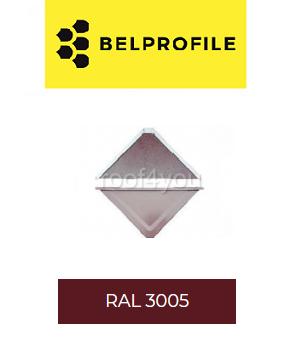 """Solzi QUADRA BELPROFILE element superior/inferior, suprafata """"SandShape"""" (structurat), grosime 0.5 mm, RAL 3005 0"""