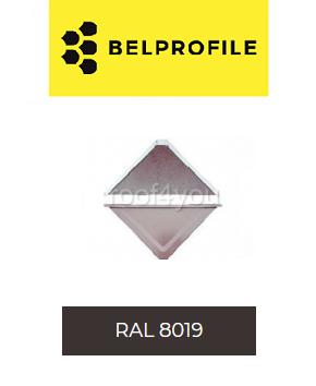 """Solzi QUADRA BELPROFILE element superior/inferior, suprafata """"SandShape"""" (structurat), grosime 0.5 mm, RAL 8019 0"""