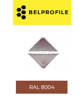 "Solzi QUADRA BELPROFILE element superior/inferior, suprafata ""SunClear"" (lucios), grosime 0.6 mm, RAL 8004 0"
