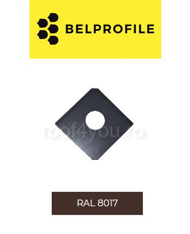 "Solzi QUADRA BELPROFILE element trecere, suprafata ""BigStone"", grosime 0.5 mm, RAL 8017 0"