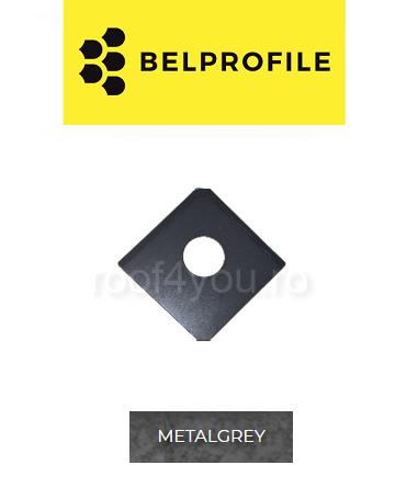 "Solzi QUADRA BELPROFILE element trecere, suprafata ""RoccaRoof"", grosime 0.5 mm, RAL METAL GRAY 0"