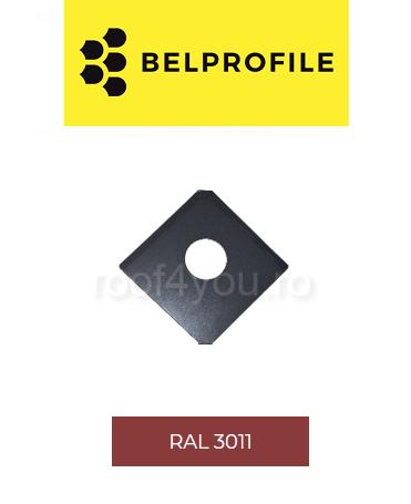 "Solzi QUADRA BELPROFILE element trecere, suprafata ""SunClear"" (lucios), grosime 0.6 mm, RAL 3011 0"