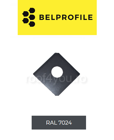 "Solzi QUADRA BELPROFILE element trecere, suprafata ""SunClear"" (lucios), grosime 0.6 mm, RAL 7024 0"