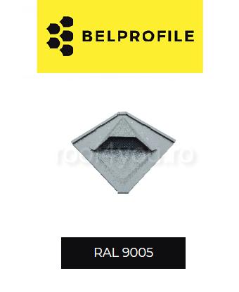 "Solzi QUADRA BELPROFILE element ventilatie, suprafata ""BigStone"", grosime 0.5 mm, RAL 9005 0"