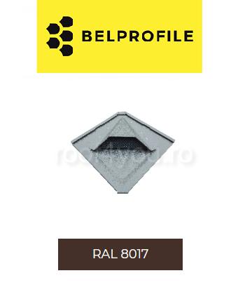 "Solzi QUADRA BELPROFILE element ventilatie, suprafata ""SandShape"" (structurat), grosime 0.5 mm, RAL 8017 0"