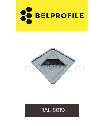 "Solzi QUADRA BELPROFILE element ventilatie, suprafata ""SunClear"" (lucios), grosime 0.6 mm, RAL 8019 0"
